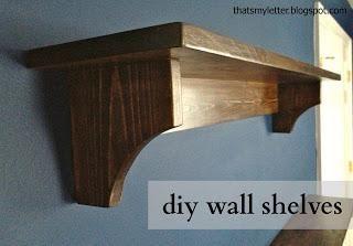 DIY Furniture : DIY Haley Simple Shelves