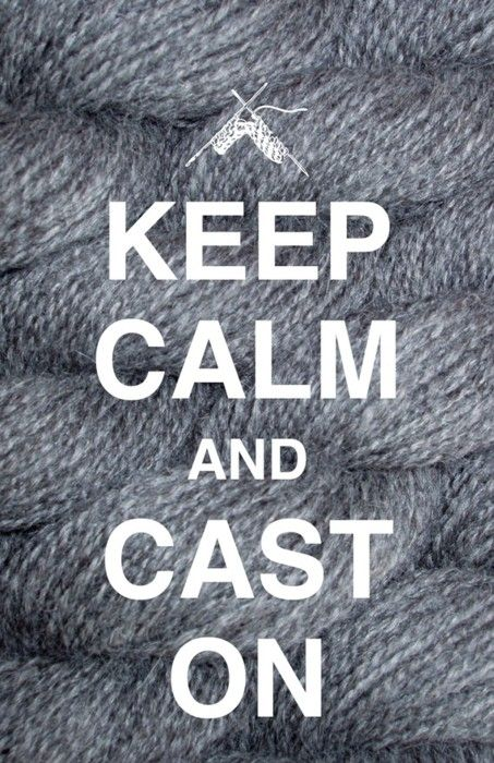 Keep Calm and Cast On 12x18 Print from Charm Studio