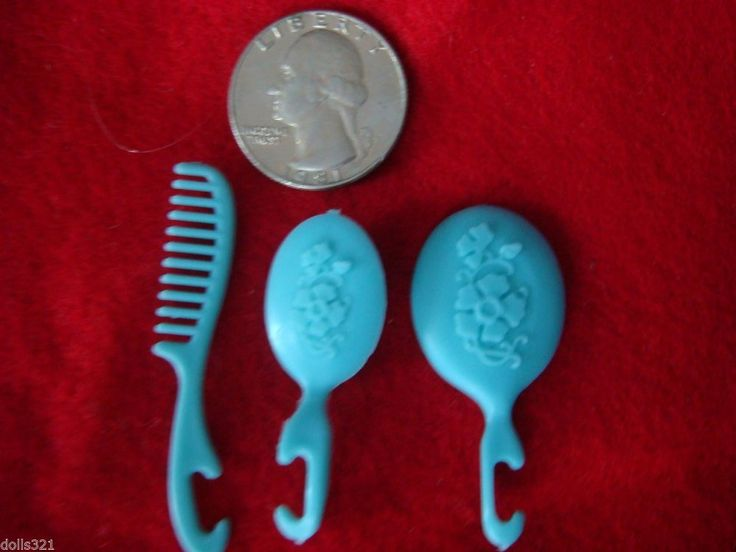 Barbie Size Miniature Mirror Comb Brush Set Estate Toys