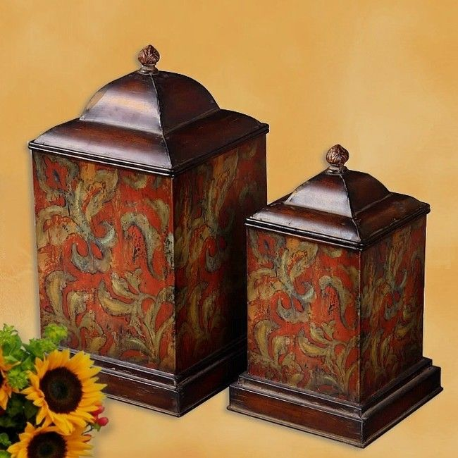 6408 best tuscan decor images on pinterest tuscan decor for Hearth and home designs canister set
