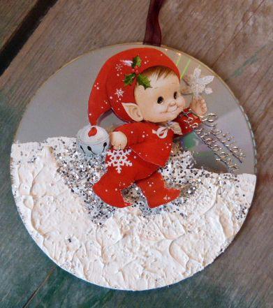 kerstkaart gemaakt door dames van ouderenvereniging ST. Matthias Leuken