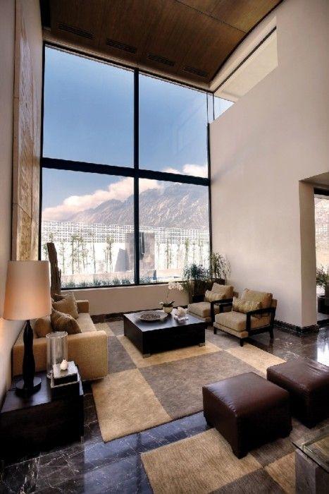 I love huge windows and high ceilings