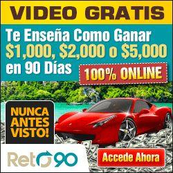http://www.uneteareto90.com En esta serie gratis de videos te voy a enseñar exactamente el nuevo sistema que te ayudarà a lograr una Gran Transformaciòn Econòmica en tan solo 90 Dias.