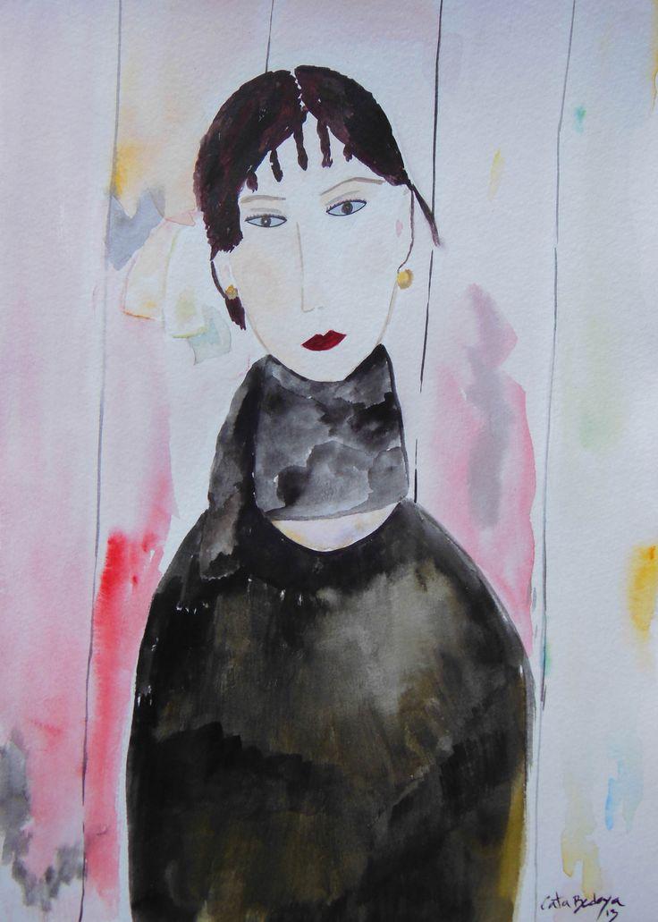 Watercolor Paint Lia 24 x 32 cm Solgt!