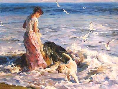 Moments in the Sun - Michael and Inessa Garmash - World-Wide-Art.com - $1600.00 #Garmash