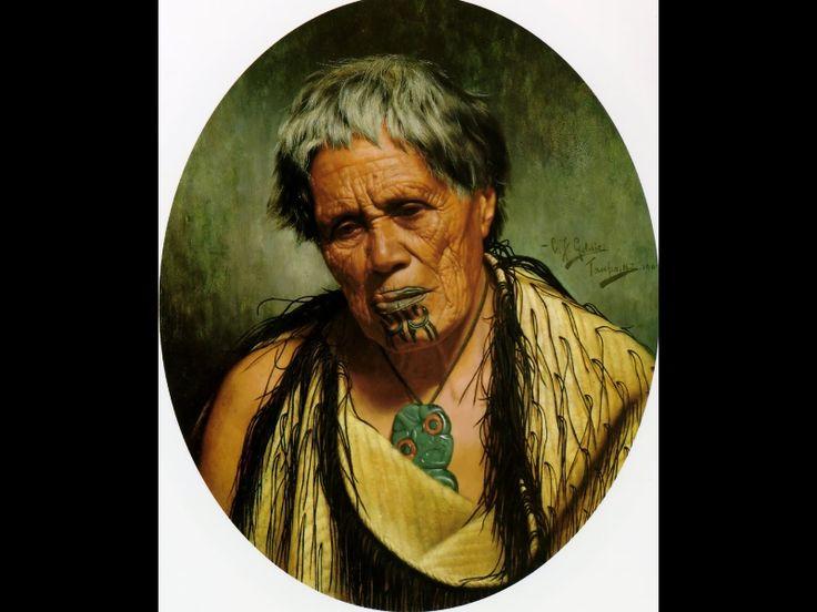 Te Hei Ngatiraukawa by Charles Goldie, Oil on canvas