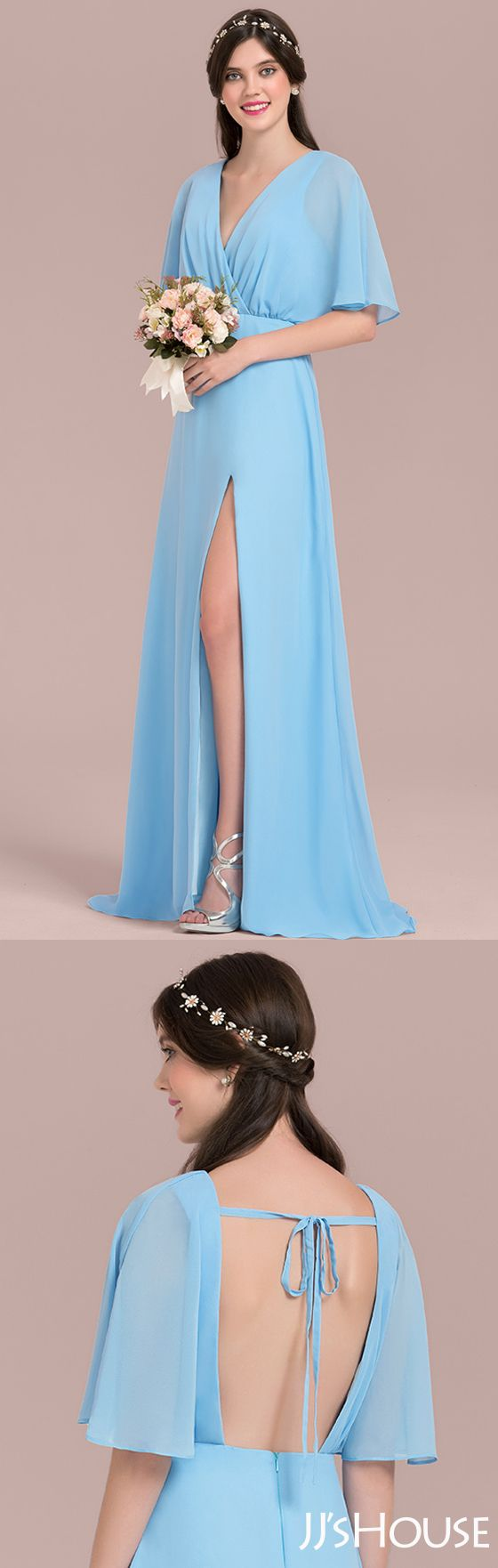 The gentle color and modern design of this bridesmaid dress is marvelous! #JJsHouse # Bridesmaid