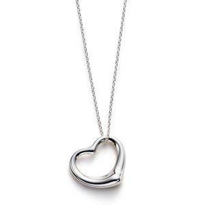 Tiffany and co Necklaces Elsa Peretti OPEN HEART pendant silver This Tiffany Jewelry Product Features: Category:Tiffany & Co Necklaces Material: Sterling Silver Manufacturer: Tiffany And Co If you like it, you can click on the pictures or click http://www.usatiffanyjewelryoutlet.com to our website to buy, product all have stock