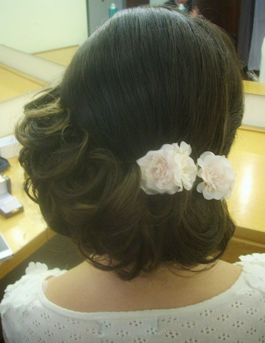 vintage hairstyle for bride in Rome, italy  by Janita Helova http://janitahelova.com/
