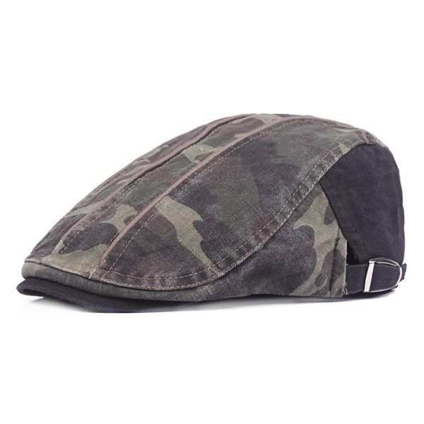 911e2b305 High-quality Men's Cotton Camouflage Beret Cap Duck Hat Sunshade ...