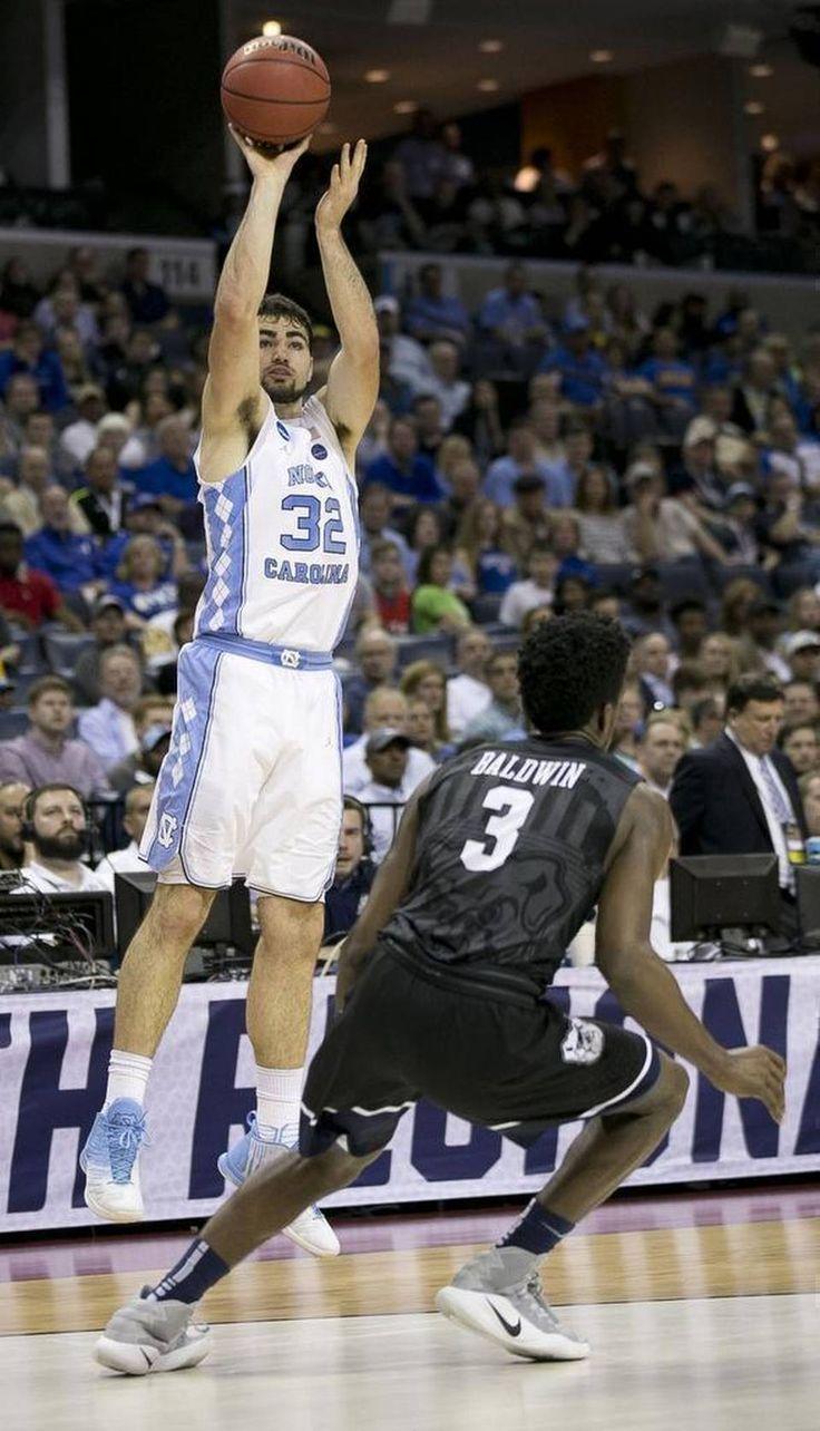 North Carolina's Luke Maye puts up a shot over Butler's Kamar Baldwin (3) during their NCAA tTournament at FedExForum in Memphis.