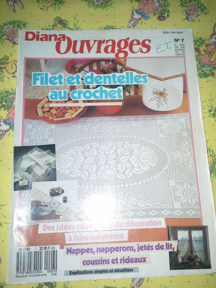 Diana Ouvrages Filet et Dentelles au Crochet : Matériel Crochet par l-atelier-de-nanie-tricot