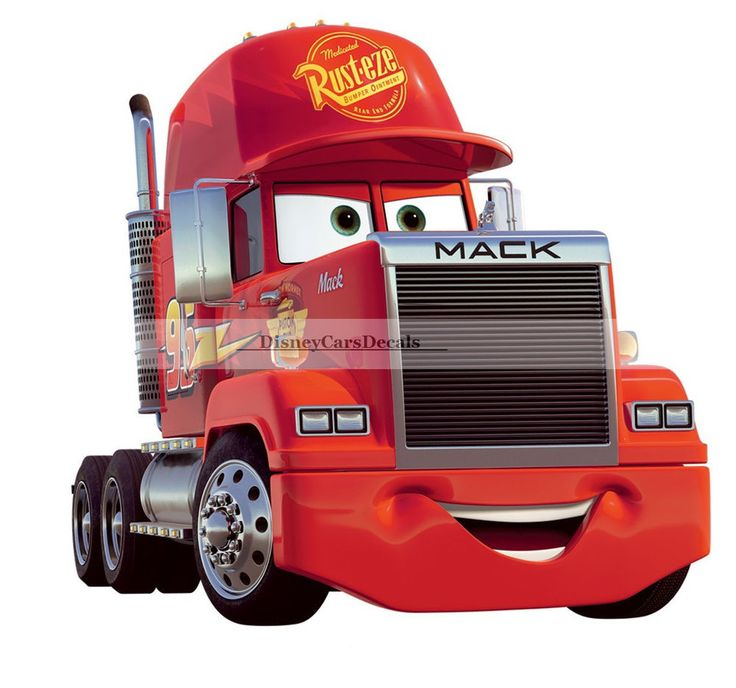 10 mack truck semi rig disney cars removable wall decal for Disney pixar cars wall mural