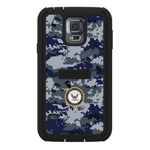 Trident Cyclops Series Case for Samsung Galaxy S5 - Retail Packaging - US Navy Camo. Fits Samsung(r) Galaxy S(r) 5. Officially Licensed. Military-approved Designs. Meets Military Standard Mil-std-810f For Vibration, Dust, Sand, Rain & Drop (independently Tested). Protects Without Bulk.