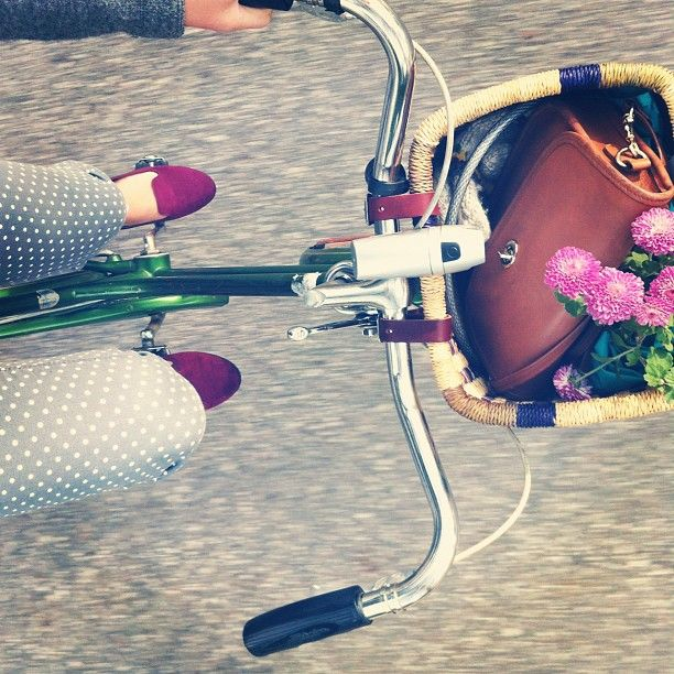 owlaholic:    i have shoes just like this all i need is a cute bike and some polka dotted pants