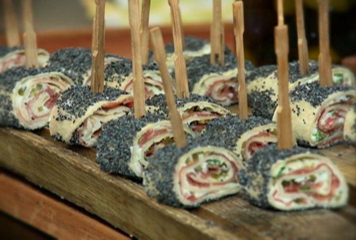 Rollos de tortilla mexicana