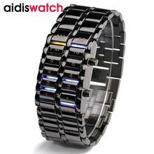 Étanche 2016 Nouveau Mode Hommes Femmes Lava Électronique deuxième génération Binaire LED Bracelet Montre-Bracelet Réveil Heures(China (Mainland))