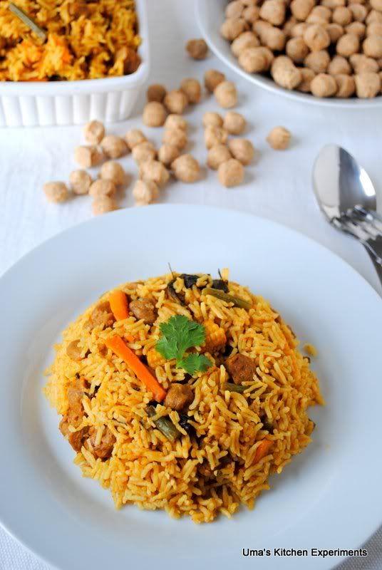 Soya Chunks Biryani ~ My Kitchen Experiments