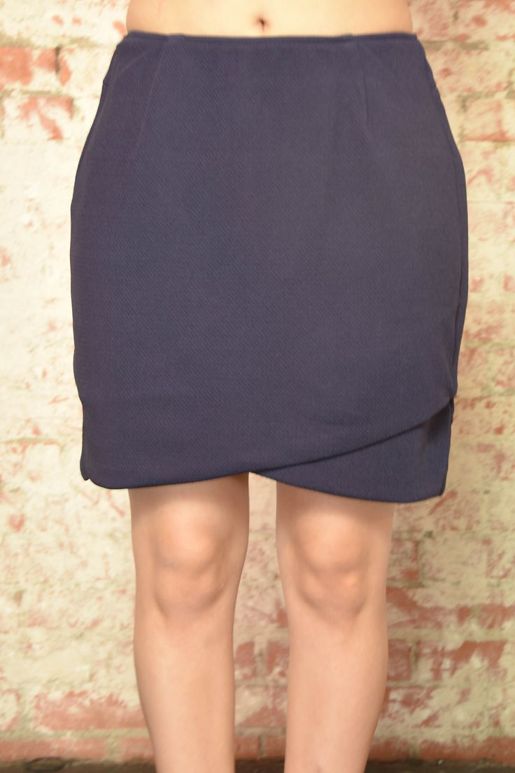 Crossing Lines Navy Skirt