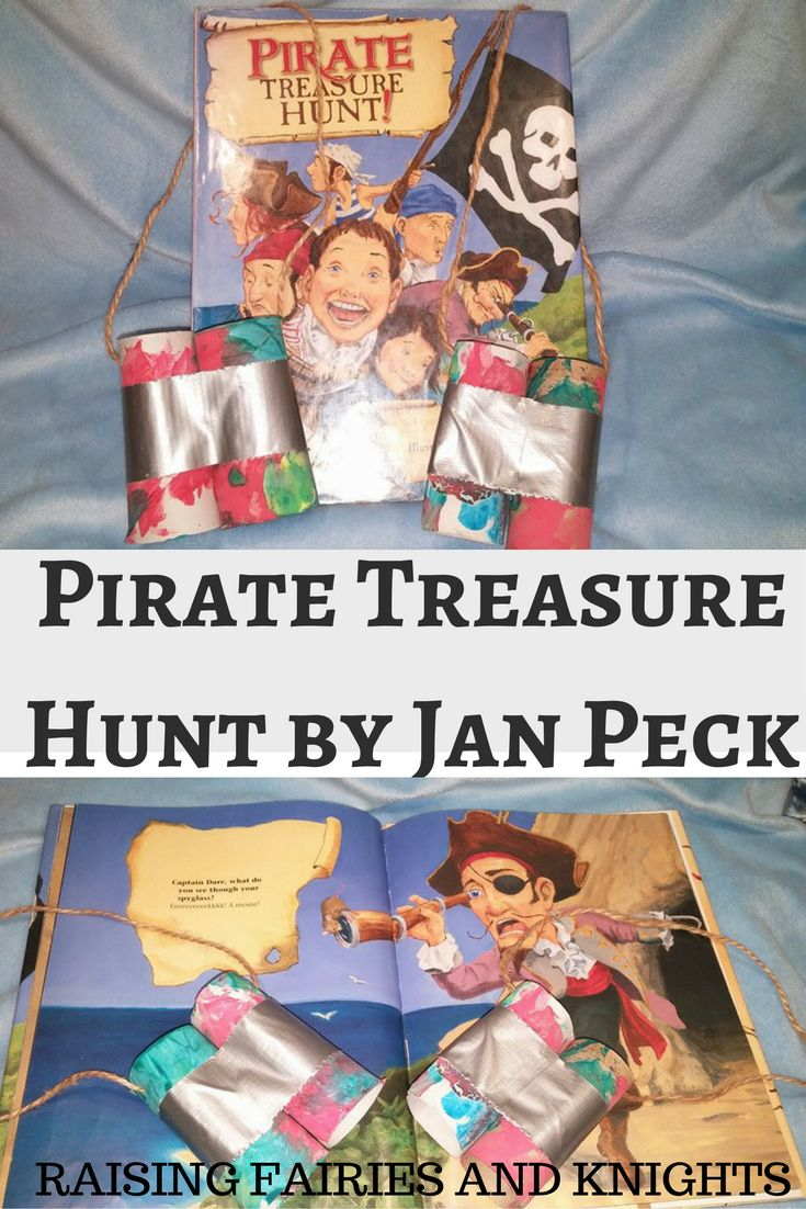 Pirate Treasure Hunt Craft - As part of #picturebookmonth, I am covering Pirate Treasure Hunt by Jan Peck and doing a fun binocular craft to help your kids on their adventure.