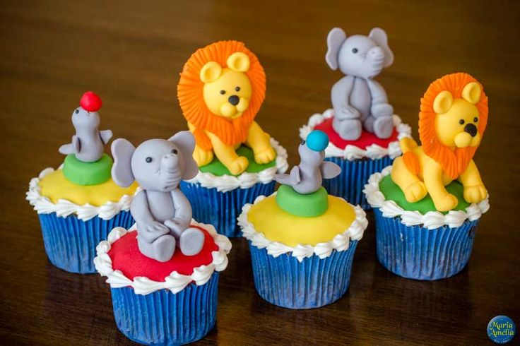 Cupcake Personalizado com o Tema Circo