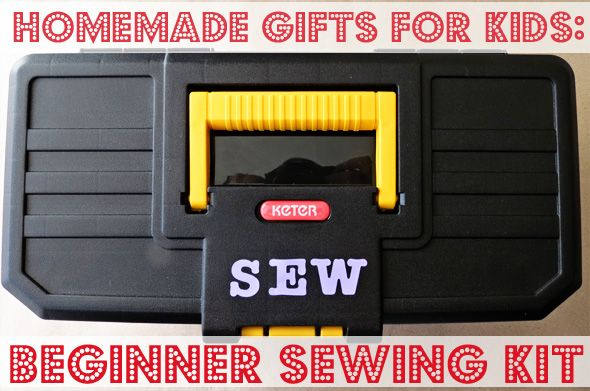 Have you got a beginning sewer? Fab ideas for a beginners sewing kit from childhood101.  Early beginners - has plastic canvas ideas for beginning sewing, embroider hoop...sewing on buttons.  Great ideas!