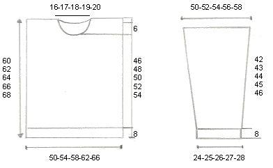 Basispatroon voor dames in de maten 38 tot en met54