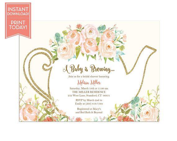 tea party invitations templates