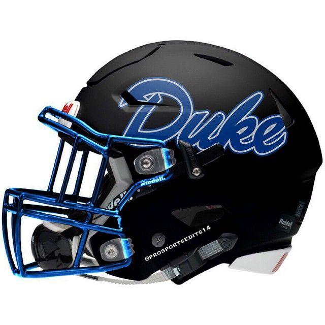 Duke Blue Devils Matte Black Riddell SpeedFlex Concept football helmet