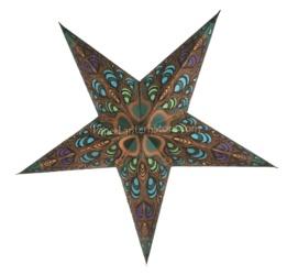Peacock Star Lantern, $7.95 ea