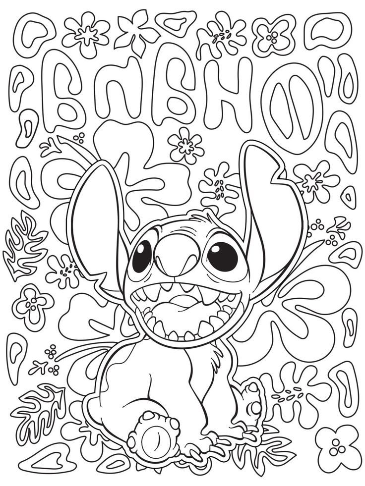 Free Downloadable Coloring Pages Stitch Coloring Pages Disney