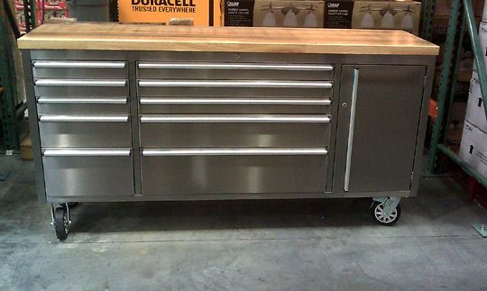 Tool Storage Unit as Kitchen Island.  (My kitchen would probably need a smaller version, though)