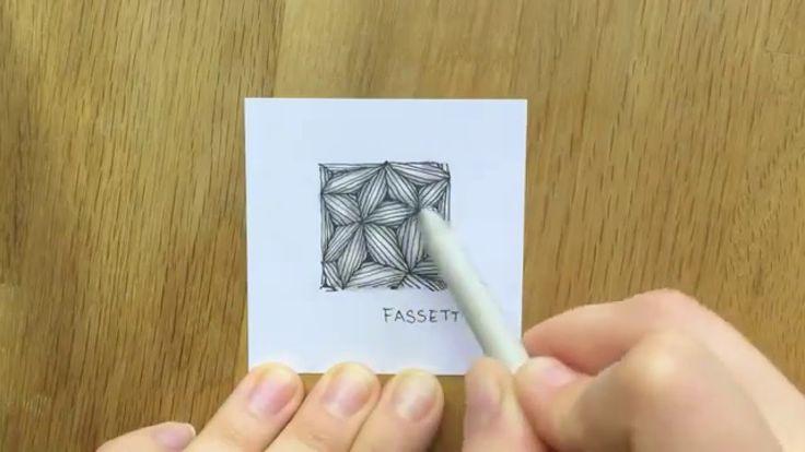 Lerne mit dieser Anleitung, das Zentangle Muster Fassett von Lynn Mead zu zeichnen. Weitere Muster gibt es auf http://bunte-galerie.de/zentangle-muster-verze...
