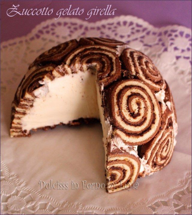 Torta+gelato+con+girelle+o+Zuccotto+gelato+super+veloce