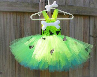 Guijarros vestido del tutú / tutú Picapiedra por JosieJosHeadbands