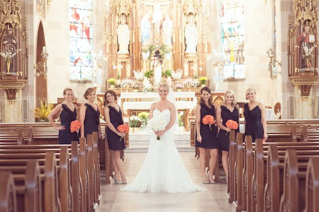 Love the color combo  Church wedding ceremony in Indianapolis Indiana