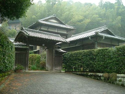 A traditional Japanese home in the town of Yoshina--something rarely seen in Tokyo today.