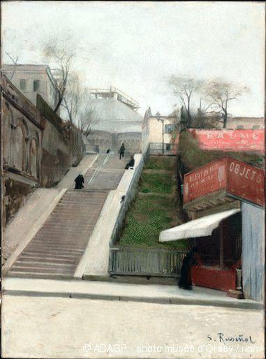 Rusinol, Santiago (1861-1931) - 1890 Le Sacre-Coeur Under Construction (Musee d'Orsay, Paris, France) ~Via Samy Odin