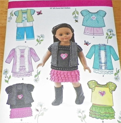 """Simplicity 1902 18"""" Doll Clothes Warderobe Fits American Girl Pattern New LOOK! 
