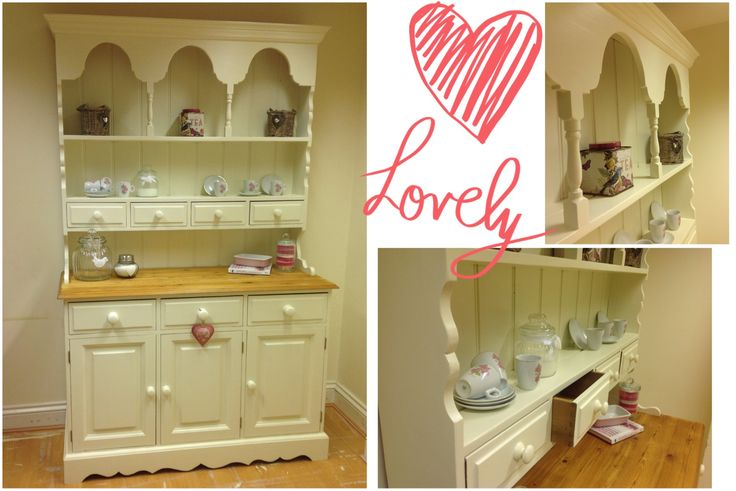 Stunning 5ft Welsh dresser, stripped and painted in Farrow and Ball 'New White'