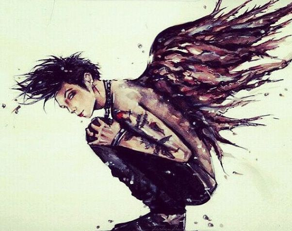 Andy biersack Okay I just found this and I might I say whoever drew this has my up most respect lol X)