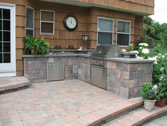 Block Outdoor Kitchenoutdoor Kitchensitescapes Landscape Designstony Kb  Outdoor Living Prefab Outdoor Kitchen Cabinets Prefab Outdoor