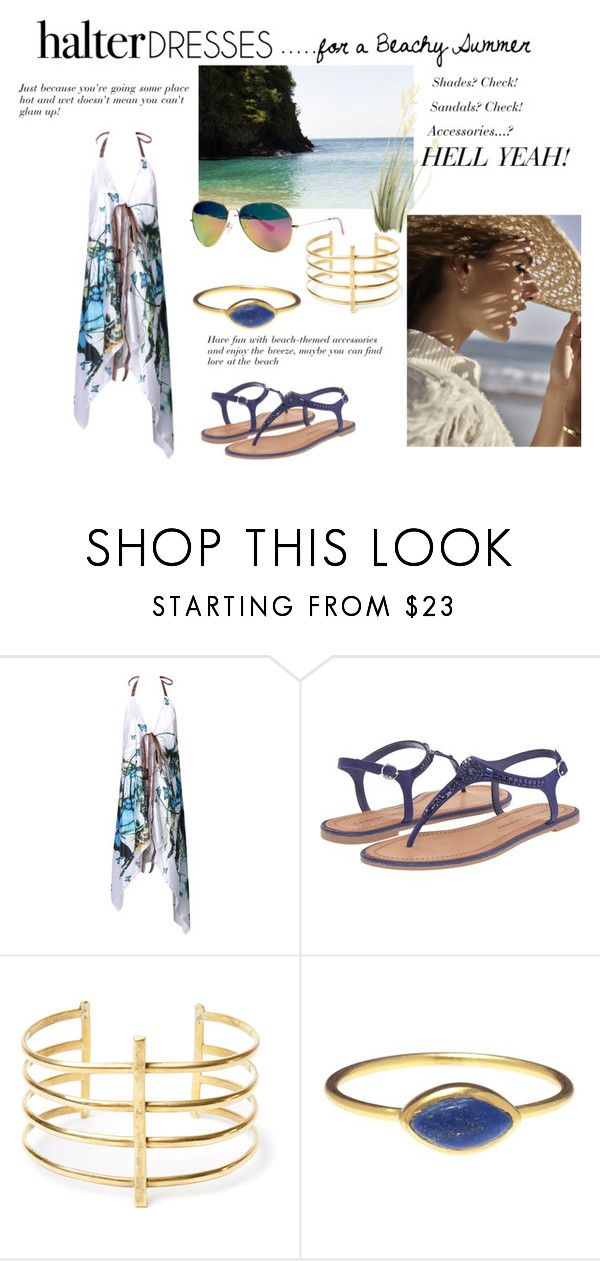 """""""Halter Dresses.....for a Beachy Holiday"""" by windrasiregar on Polyvore featuring WithChic, Chinese Laundry, BauXo, Lilly Pulitzer and halterdresses"""