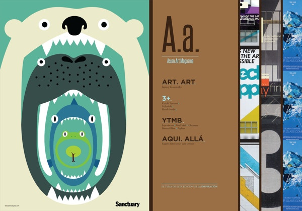 A.a  Asian Art Magazine by Alejandra Ordoñez Padilla, via Behance