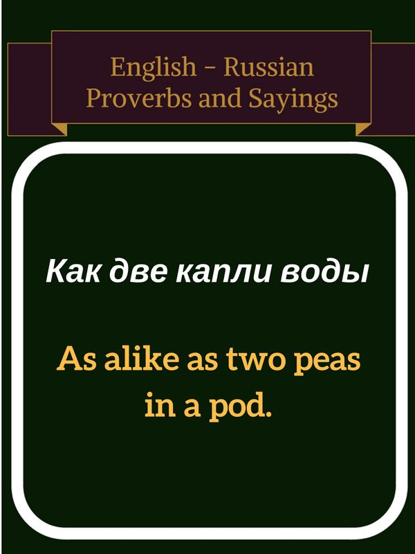 Proverbs And Russian 112
