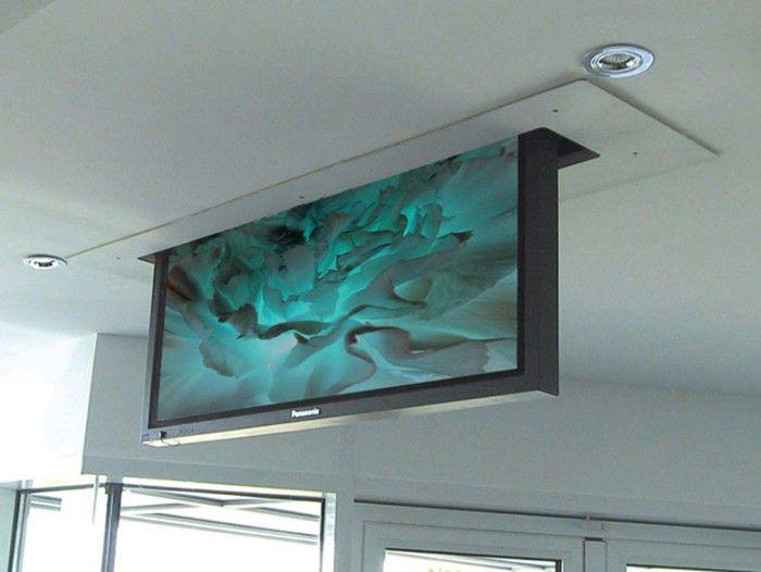 25 best ideas about motorized tv mount on pinterest for Motorized tv lift with swivel