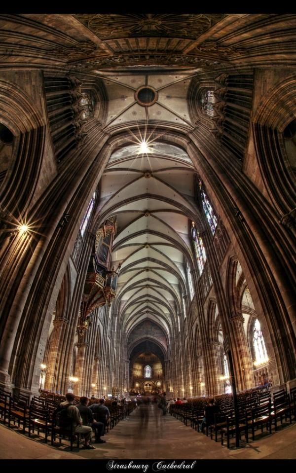 Notre Dame Cathedral Interior ~ Strasburg ~ France