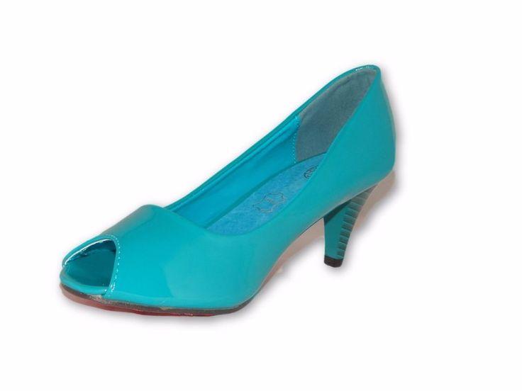 Womens Ladies Mid High Heels Stilettos Platforms Sandals Peep Toe Pumps Size New