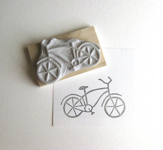 Hey, I found this really awesome Etsy listing at https://www.etsy.com/listing/103831012/bicycle-hand-carved-rubber-stamp