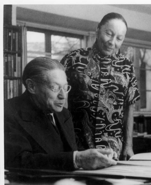 Lion Feuchtwanger and wife Marta in their study.. http://digitallibrary.usc.edu/cdm/ref/collection/p15799coll35/id/7